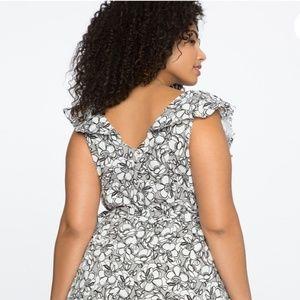 Eloquii Dresses - Eloquii Plus Floral Challis Wrap Dress Size 24